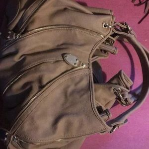 Justfab brown leather purse
